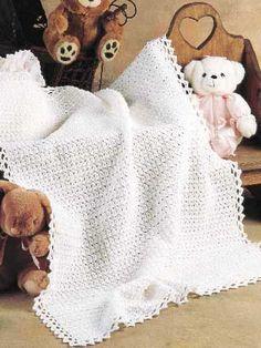 Picot Stitch Baby Blanket: free pattern