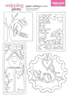 5978 Best Paper Cuts Images Papercutting Pyrography Stencils