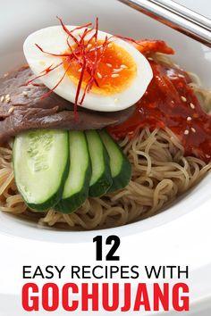 12 gochujang recipes anyone can master. This Korean hot sauce is the new sriracha and so tasty. #koreanfoodrecipes