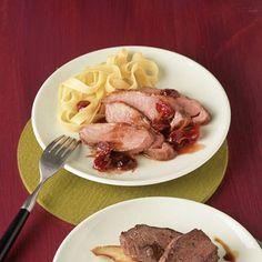 Entenbrust mit Cranberry-Portwein-Sauce Rezept   Küchengötter