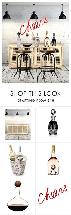 """""""bar"""" by daizysheila ❤ liked on Polyvore featuring interior, interiors, interior design, home, home decor, interior decorating, Global Views, Waterford, Lumière and Perrin"""
