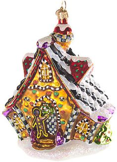 Gingerbread House Glass Ornament
