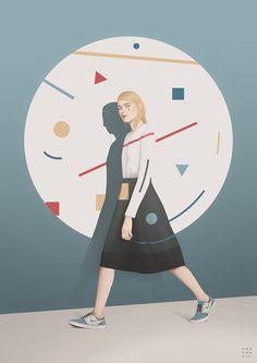 Fashion Illustrations by Yuschav Arly – Fubiz Media