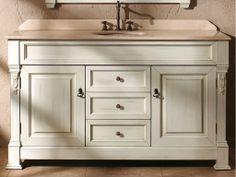 Cottage White Finish. Antique Bathroom Vanity Ideas