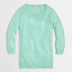 J.Crew Factory - Factory merino Charley sweater 68.50 (sales make it more affordable!)  I would like the colors: Bright emerald, black, vibrant fuchsia, vintage aqua...