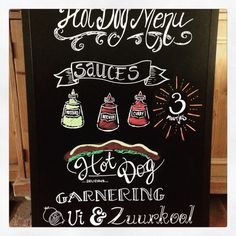 """Chalkboard#kalkbord.  Gemaakt voor een lunchroom """" de eetalage"""" in Lelystad."""