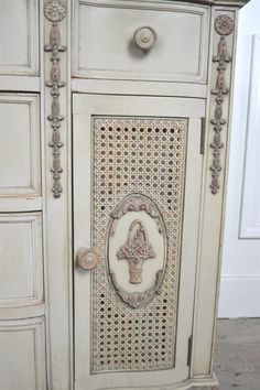 Antique French Cane Dresser Server by FullBloomCottage on Etsy
