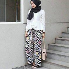 Palazzo pants with hijab-Street fashion style – Just Trendy Girls