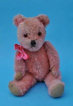 Sweet Vintage Pink Teddy.....he looks so sad