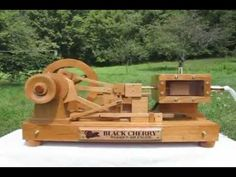 Black Cherry Wooden Air Engine - YouTube