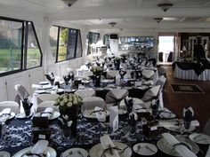Wedding Reception hosted aboard the Spirit of Jen the biggest and most luxurious Gauteng Cruising Wedding Venue on the Vaal River Cruise Prices, Wedding Reception, Wedding Venues, Cruise Boat, Table Centers, Boat Tours, Private Garden, Centre Pieces, Table Centerpieces
