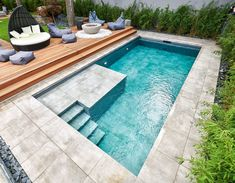 Pool Spa, Swimming Pools Backyard, Lawn Restoration, Build Your Own Pool, Garden Solutions, Cool Pools, Pool Designs, Future House, New Homes