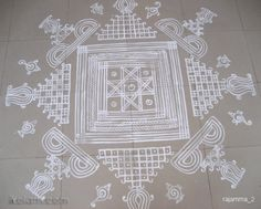 This is the padi kolam put in the engagement ceremony of my nephew by my sister and niece. Forwarded for you to enjoy. Simple Rangoli Designs Images, Rangoli Kolam Designs, Rangoli Ideas, Kolam Rangoli, Beautiful Rangoli Designs, Traditional Rangoli, Sankranthi Muggulu, Alpona Design, Kutch Work Designs
