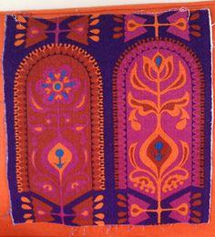 60s 70s Vintage Heals Era Barkcloth Fabric - possibly designed by Jyoti Bhomik