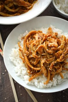Crock Pot Teriyaki Chicken from What The Fork Food Blog is perfect for dinner tonight.