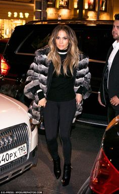 Retail therapy:Jennifer Lopez braved Russia's cold to go on a designer shopping spree in ...