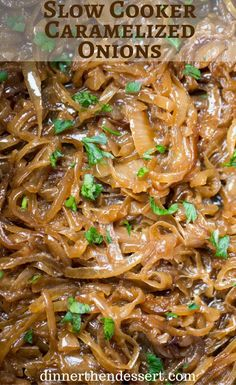 slow cooker caramelized onions slow cooker caramelized onions with no ...