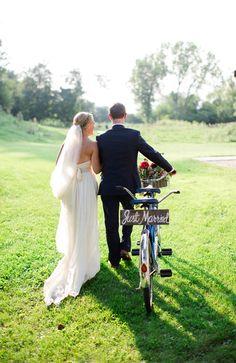 Exit in glam in this vintage tandem bikes