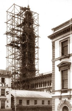 The tower of the G.P.O. (Sydney) under construction, towards the end of 1885. Charles Bayliss 1850 - 1897