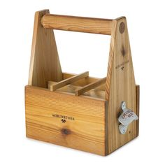 beverage carrier - handcrafted in Montana from western red cedar