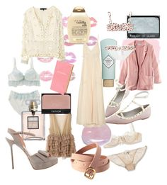 """""""pale"""" by mylittleponytale ❤ liked on Polyvore featuring Elle Macpherson Intimates, Organix, Benefit, Nude, H&M, Max Azria, Aula Aila, NARS Cosmetics, Gianmarco Lorenzi and Rosamosario"""