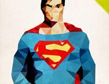 Polygon heroes: Superman