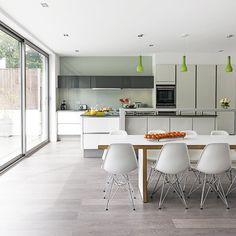 White social kitchen-diner extension | Kitchen extension | PHOTO GALLERY | Beautiful Kitchens | Housetohome.co.uk
