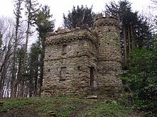 Ragged Castle Set on a motte at the end of a main drive from Badminton House is the folly known as Ragged Castle, built c1750 by Thomas Wright of Durham and now a building at risk.
