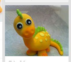 Artículos similares a Fondant Baby Dinosaur Cake or Cupcake topper - Decorations for your Prehistoric party en Etsy Dinosaur Cupcake Toppers, Fondant Cake Toppers, Fondant Baby, Fondant Cakes, Cupcake Cakes, Fondant Monkey, Fondant Rose, 3d Cakes, Fondant Flowers