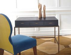 Felix Desk - use as vanity? Table Furniture, Home Furniture, Furniture Design, Julian Chichester, Chichester Uk, Dining Chairs, Dining Table, Oak Stain, Desk With Drawers