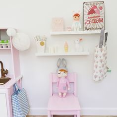 Pretty pastel decor in a little girl's room #fermliving #myluckyday #miniroom #børneværelse 21st Century Homes, Kids Corner, Kidsroom, Home Decor Items, Night Light, Woodland, Toddler Bed, Ikea, Rabbit