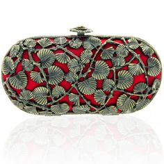 #ikebana #clutch #red #gold #japanese #leaf #design #inspired #bansriaccessories #beautiful #shopnow #shoponline
