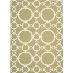 Nourison Waverly Sun N Shade Polyester Indoor/Outdoor Rug, Citrine - I love the circles and the color