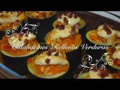 Receta de calabacines rellenos de verduras - Receta para Dieta con Thermomix - Chef de mi casa.com - YouTube
