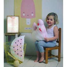 #Kussen #watermeloen - #ALittleLovelyCompany - #kinderkamer - #cushion #watermelon #kidsroom #interior #pastel #pink #littlethingz2