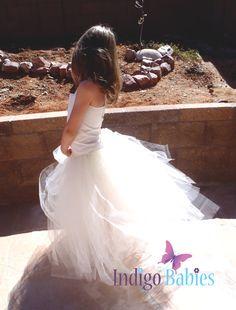 Flower Girl Dress Weddings Tutu Dress Ivory Tutu Cream Lace ...