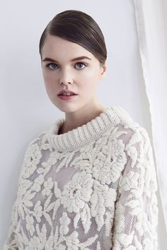 hannah-jenkinson-knitwear  Hannah Jenkinson Knitwear, or HJK, uses knitting, hand-embroidery, and crochet.