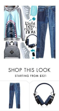 """""""Untitled #3794"""" by beebeely-look ❤ liked on Polyvore featuring McQ by Alexander McQueen, Master & Dynamic, ncLA, BackToSchool, schoolstyle, sammydress, streetwear and Hoodies"""