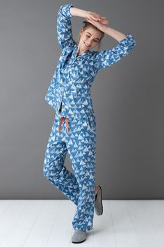 Lounge or slumber in style in pretty printed pyjamas made from soft, lightweight cotton. Comfort And Joy, Cotton Pyjamas, Pajama Top, Fashion Lookbook, Nightwear, Lounge Wear, New Dress, Winter Hats, Clothes For Women