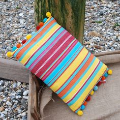 Beautiful Bobble cushion made in cotton By The Great British Seaside company Designed in United Kingdom Garden Cushions, British Seaside, Beach Gardens, Great British, Summer Essentials, United Kingdom, How To Make, Cotton, Beautiful