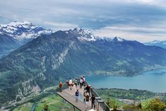 "The ""two-lakes-bridge"" is the new touristical attraction above Interlaken/Switzerland #Brienzersee #thunersee #harderkulm #interlaken #jungfraujoch"