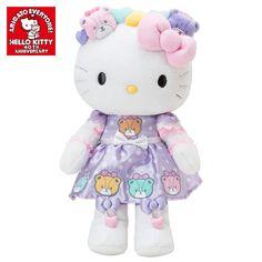 Hello Kitty Plush Doll 40th Anniversary Tiny Chum HUG Plush Doll Kitty SANRIO JAPAN-01