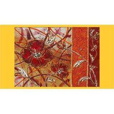 """Quadri Moderni Floreali """"Papavero astratto"""" Materico acrilico su tela. Vivace nei colori e piacevole nel soggetto, il quadro floreale astratto arricchito da tecniche decorative diverse, si inserisce sia nell'arredamento moderno che classico."""