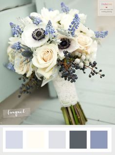 Choosing The Ideal Winter Wedding Flowers | itakeyou.co.uk #winterweddingflowers #anemonie