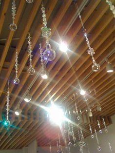 sun catchers hanging everywhere! ♥