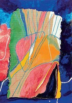 Nicola de Maria - Maschera dell'amore, 1980  técnica mixta sobre cartón entelado