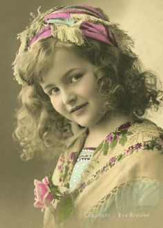 Vintage photo of a pretty little girl.