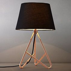 Copper Table Lamp Stand Albus Twisted Table Lamp