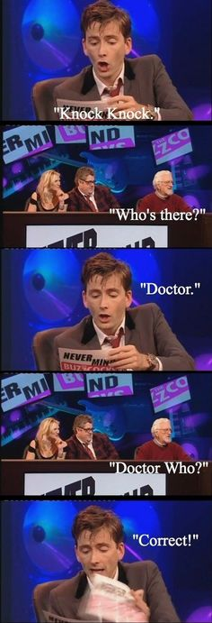 David Tennant tells a Knock Knock joke