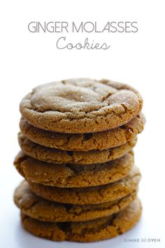 The ideal cookie jar filler upper: Chewy Ginger Molasses Cookies | gimmesomeoven.com